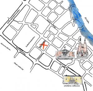 Karta till Kalmar nation