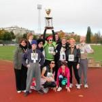 Vinnarna av Uppsala studentlopp 2012: Kalmar nation! Foto: Uppsala studentlopp