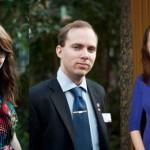 Fr v Christina Fredriksson, Erik Andersson och Andrea Alvarez. Foto: Nationsfotografen