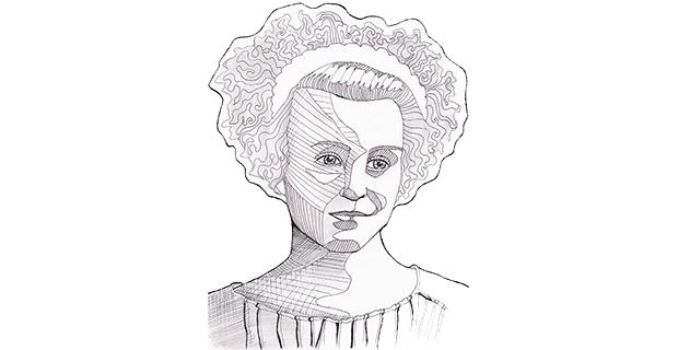 Sonja Lyttkens anno 1937, nyss inskriven vid universitetet och nationen.
